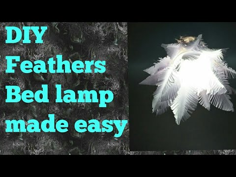 DIY feathers bed lamp
