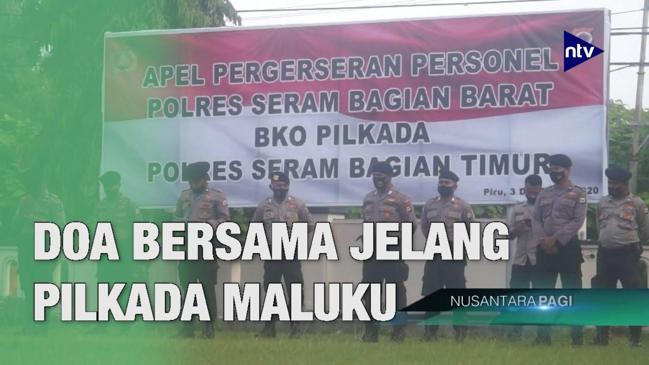 Polisi Berdzikir Sebelum Bertugas Amankan Pilkada Maluku