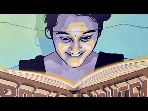 Conceptual Art at NayaBazar school, Khammam | Swathi and Vijay | Streetart | 1080p
