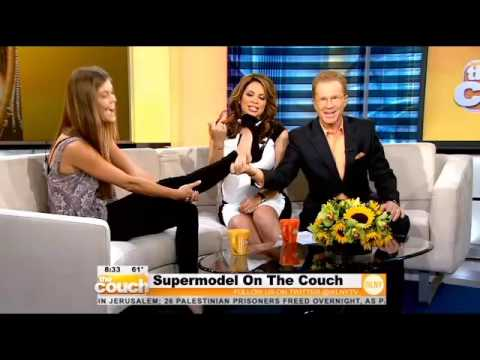 CBS New York: SI Swimsuit Beauty Nina Agdal On The Couch