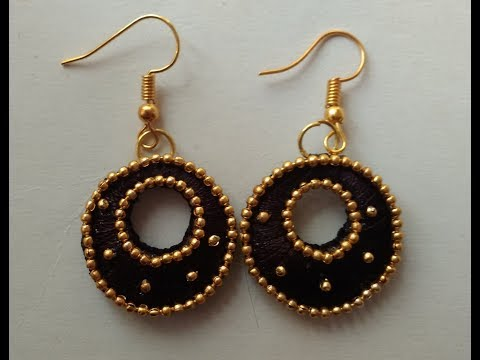 How to make silk thread  earrings //Chandbali silk thread earring