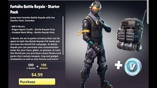 *NEW* FORTNITE SKINS! Rogue STARTER PACK! for FREE? (Fortnite Battle Royale NEW SKIN UPDATE)