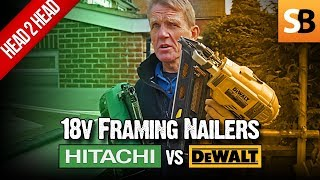 Hitachi vs DeWalt DCN692 18v Cordless Framing Nailer