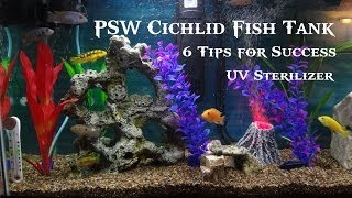 Psw Cichlid Fish Tank Update Ep #3 - Uv Sterilizer And 6 Tips For Success! (hd)