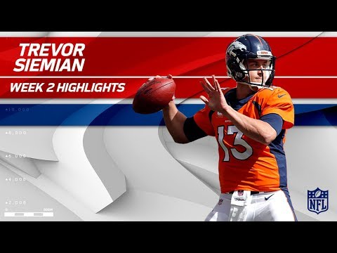 Trevor Siemian Tosses 4 TDs in Big Win vs. Dallas | Cowboys vs. Broncos | NFL Wk 2 Player Highlights