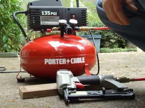 Porter Cable Pancake Compressor 135 Psi Demonstration Youtube