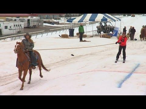 'Extreme Horse Skijoring' Comes To Canterbury Park
