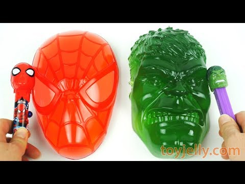 DIY How to Make Spiderman Hulk Mask Jelly Pudding Cake Toy Kinetic Sand Popsicle Ice Cream Cars Mold