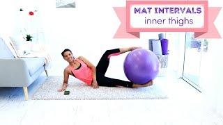 Stability Ball Workout Fit Ball Inner Thigh Workout - BARLATES BODY BLITZ Mat Intervals inner Thighs