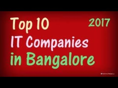 TOP 10 IT Companies In Bangalore.