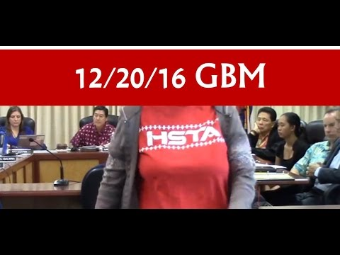 Dec 20, 2016 –  Hawai'i BOE General Business meeting  (GBM)