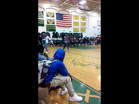 Pep-ralley at #Morrow High School