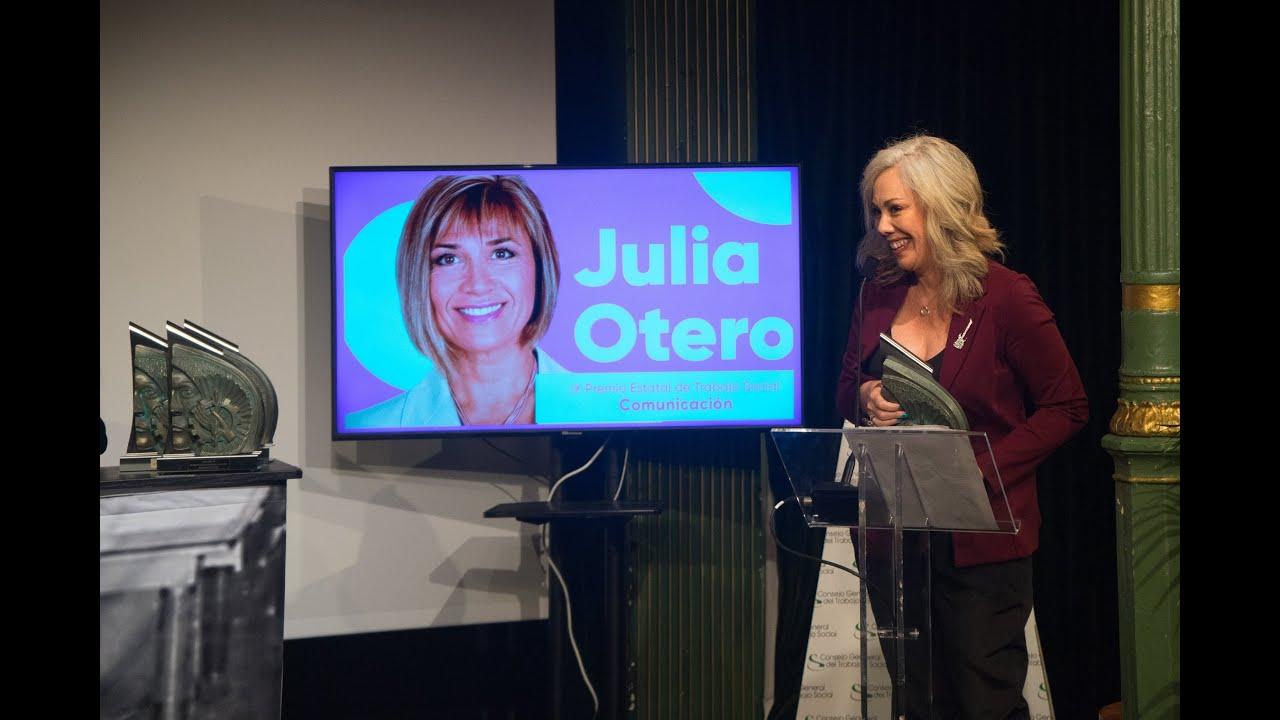 03 - Julia Otero   Premio Estatal Trabajo Social