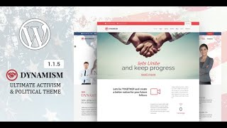 Dynamism - Political & Activism WP Theme Installation