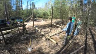 Start of Construction - Wood Drying Rack - April 2016