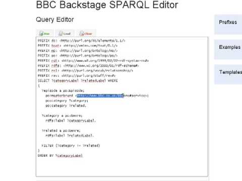 Using SPARQL to visualise Linked Data