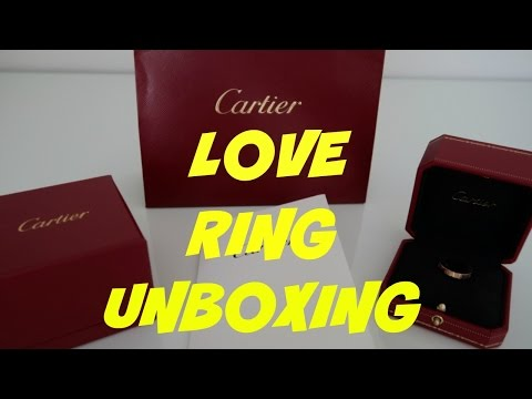 AUTHENTIC MENS CARTIER LOVE RING UNBOXING