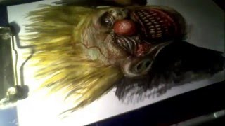 Drawing zombie clown