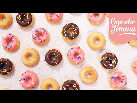 How To Make Mini Baked Donuts | Cupcake Jemma