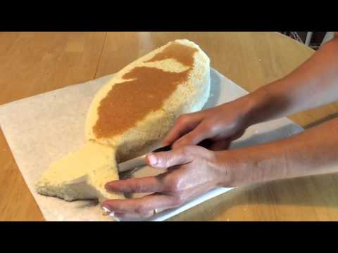 How to make a fish shaped cake part 1 carving the cake for How to make fish