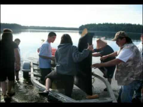 Squaxin Island Canoe Journey 2008 pt 1 of 5