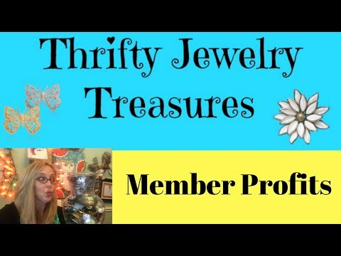 Thrifty Jewelry Treasures Member Profits #6 Sold on eBay