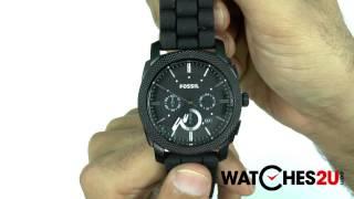Fossil Mens Machine Chronograph Black Watch FS4487