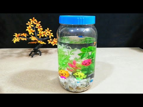 Bottle Aquarium | Mini Aquarium Without Real Fish For Kids
