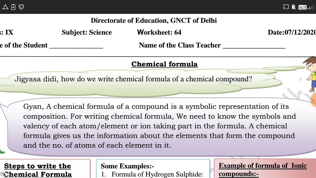 small resolution of Class 9 Worksheet 64 Science (English) - YouTube