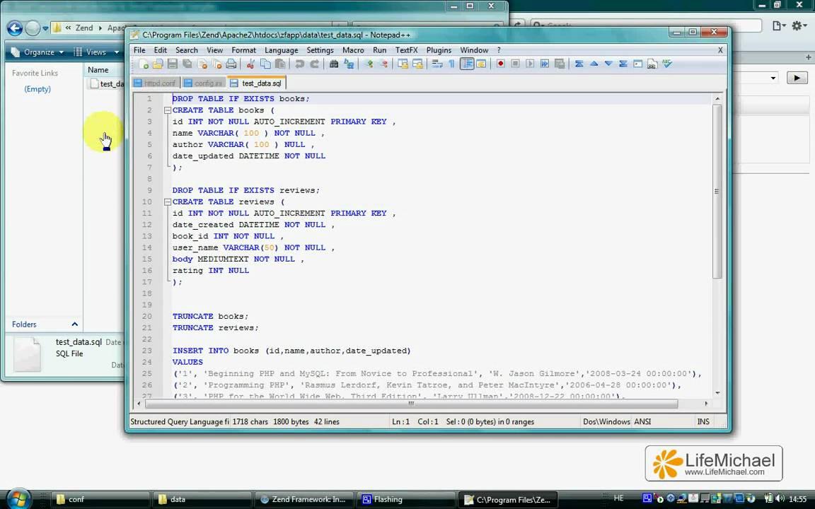 Simple PHP Zend Framework Code Sample