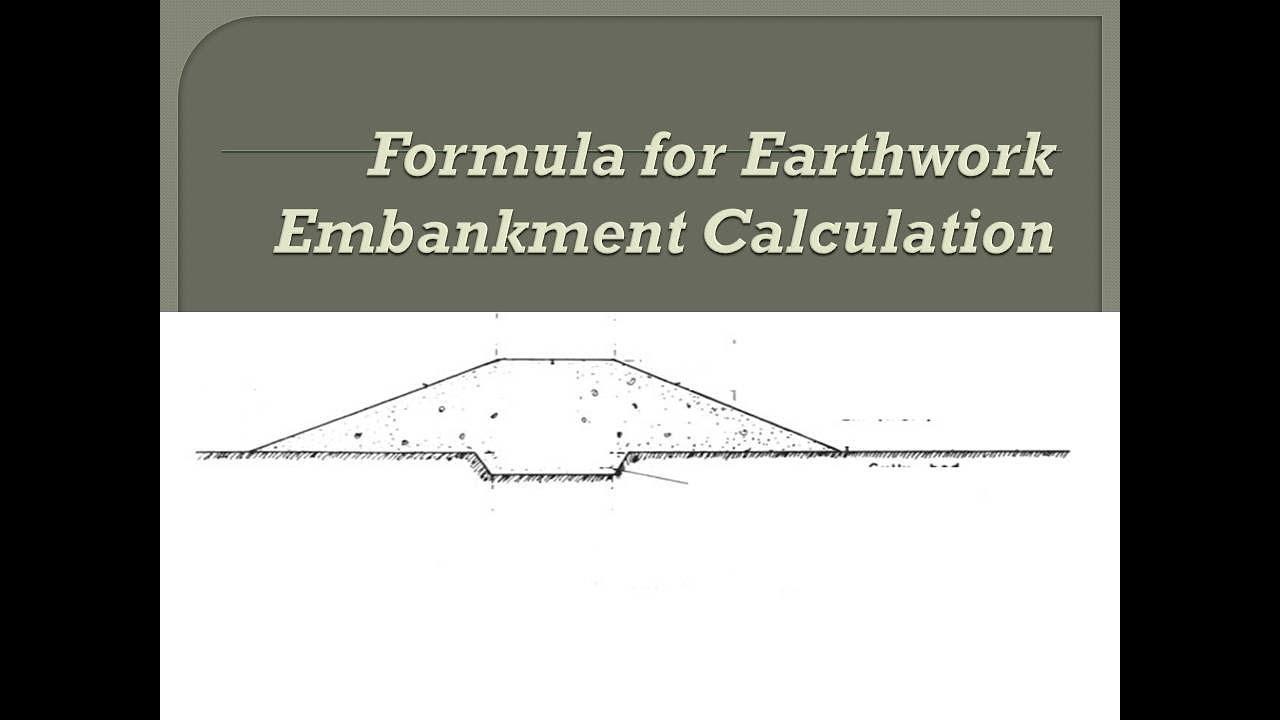 Earthwork Embankment Road And Railway Calculation Formula Hindi