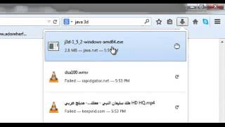 1   download and install java 3d