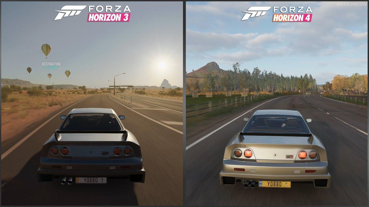 Forza Horizon 3 vs Forza Horizon 4 - 1995 Nissan GT-R LM Nismo Sound  Comparison