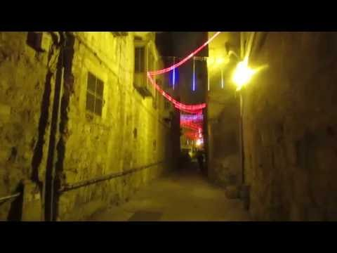 Christmas at Jerusalem Israel - Christian Quarter of the Old City (the Greek Orthodox patriarch St)