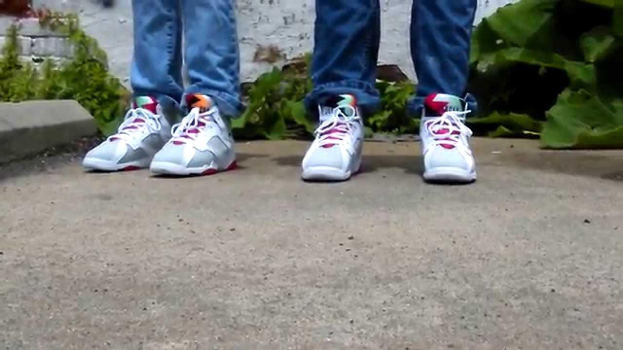 1818c338e2d90a Air Jordan retro 7 preschool on feet review - YouTube