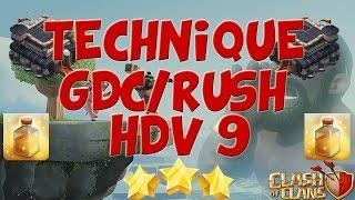 COMPO FARM/GDC/RUSH HDV 9 à base de cochons!! | Clash of Clans