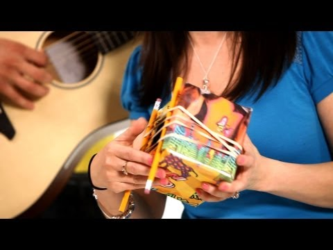 How to String a Homemade Guitar | Musical Instruments