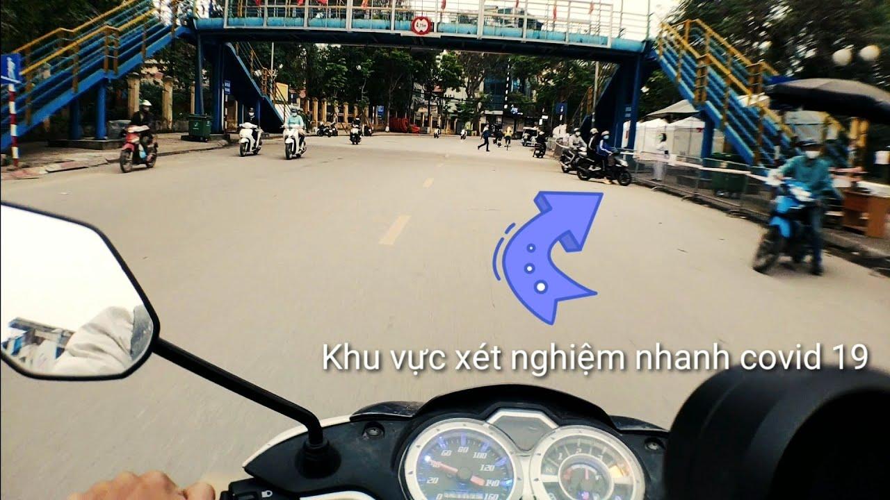 Phố phường Hà Nội trước lệnh cách ly toàn xã hội từ 1/4, chốt xét nghiệm nhanh covid 19