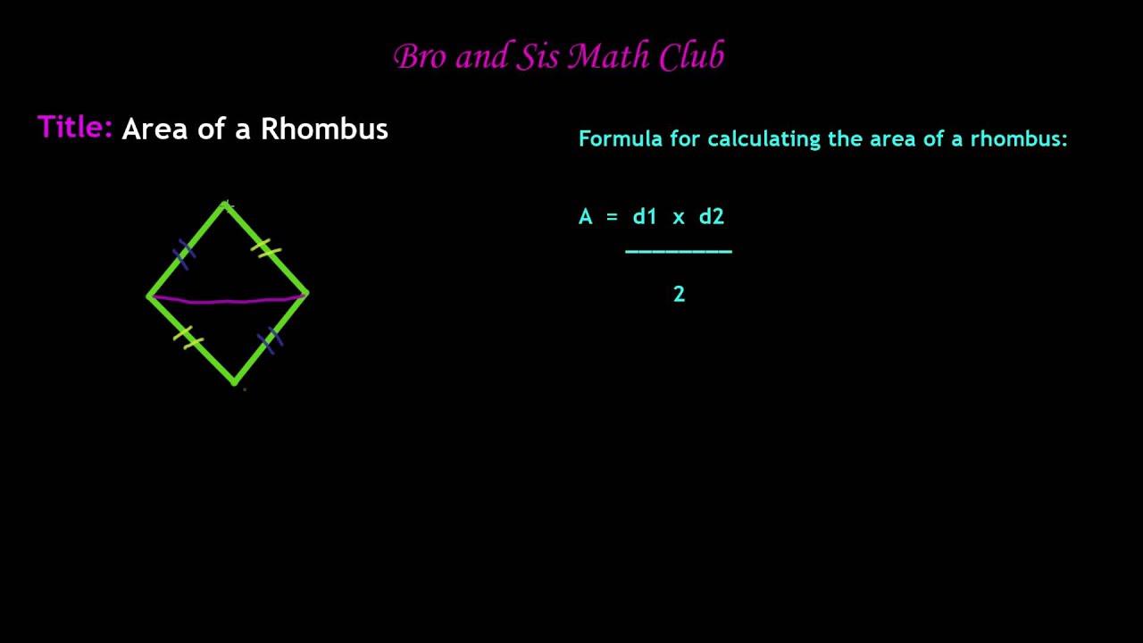 6th Grade Math Area Of Rhombus