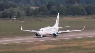 Germania B737 D-AGEP Zonguldak-Çaycuma 18'e Muhteşem İniş
