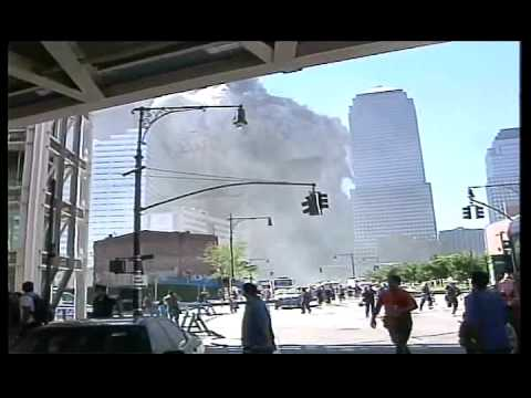9/11 North Tower Demolition  - West Street And West Face Compilation