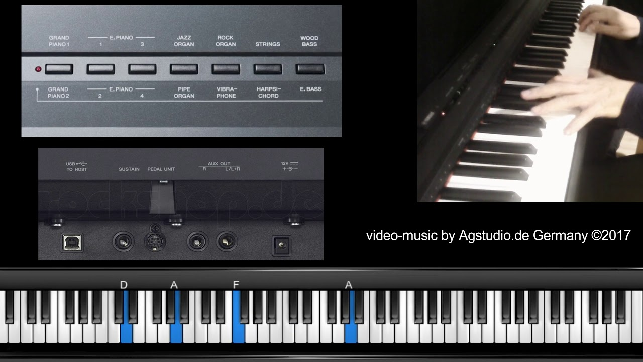 yamaha digital piano p 105 test 1 youtube. Black Bedroom Furniture Sets. Home Design Ideas