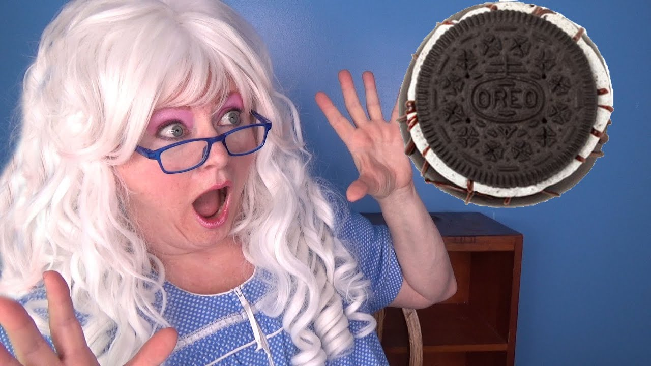 Oreo Cookie Donuts Taste Test Glazed Donuts Review with Granny McDonald