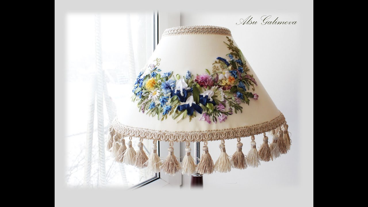 Абажур с цветком