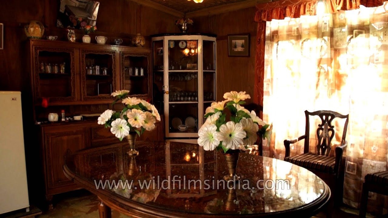 Interiors of a kashmiri houseboat