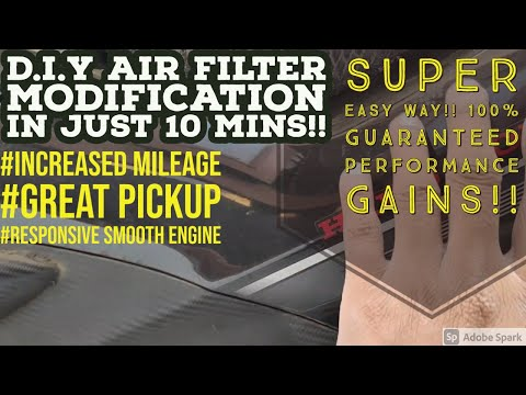 AIR FILTER MODIFY FOR CBZ XTREME, SUPERB PICKUP AND MILEAGE ACHIEVED!!