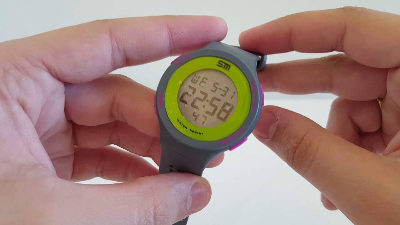 3fd05524923 Relógio digital feminino esportivo academia Cronômetro silicone aprova  d água praticar exercícios
