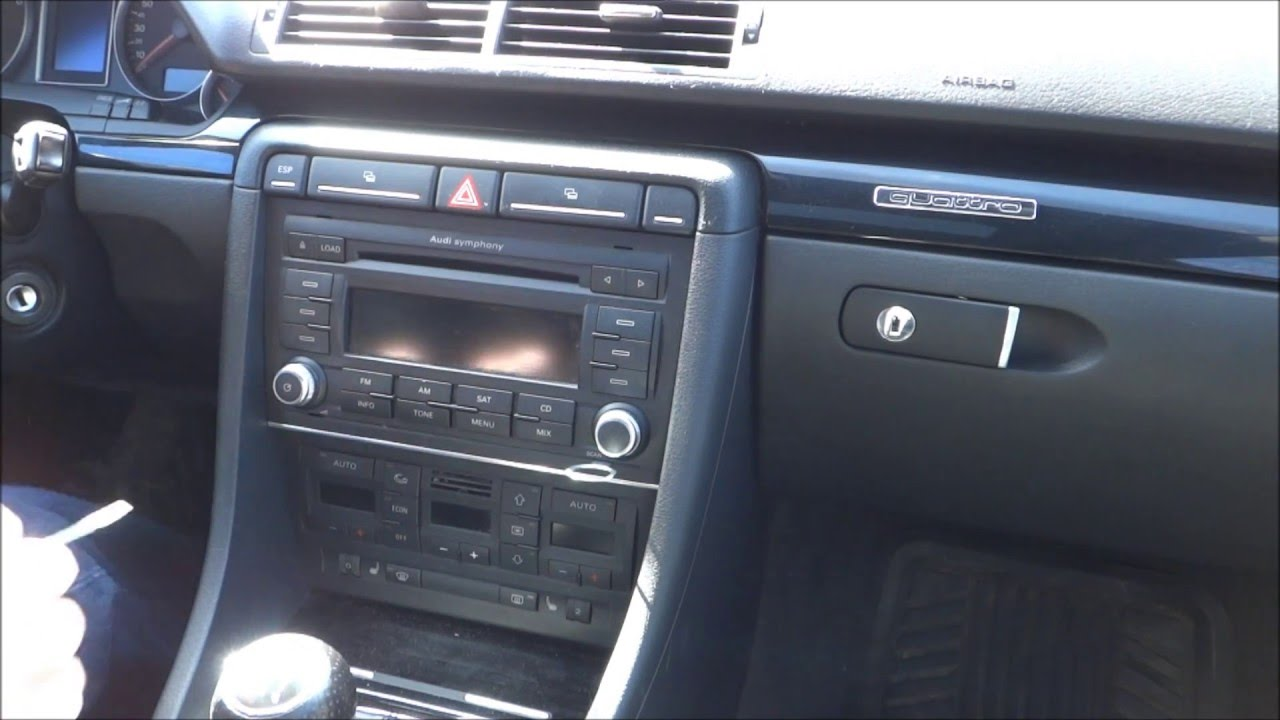 How to remove a symphony ii stereo from a b7 audi a4 for Mueble 2 din audi a4 b7