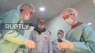 Syria  Medical students assist Russian doctors at Aleppo medical centre