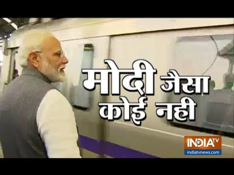 PM Modi takes Delhi Metro ride to ISKCON temple interacts with people on the way